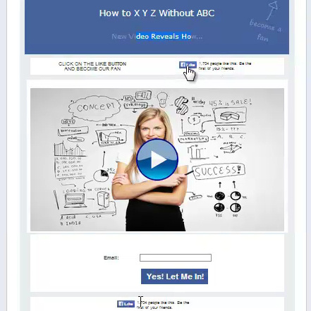 Special Offer Of Fan Page Money Method Members - Facebook video template